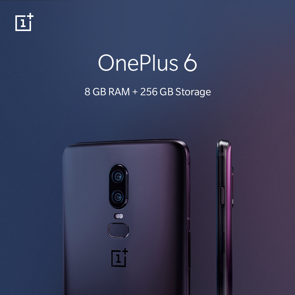 OnePlus 6 now with 256GB Storage launching 10th July