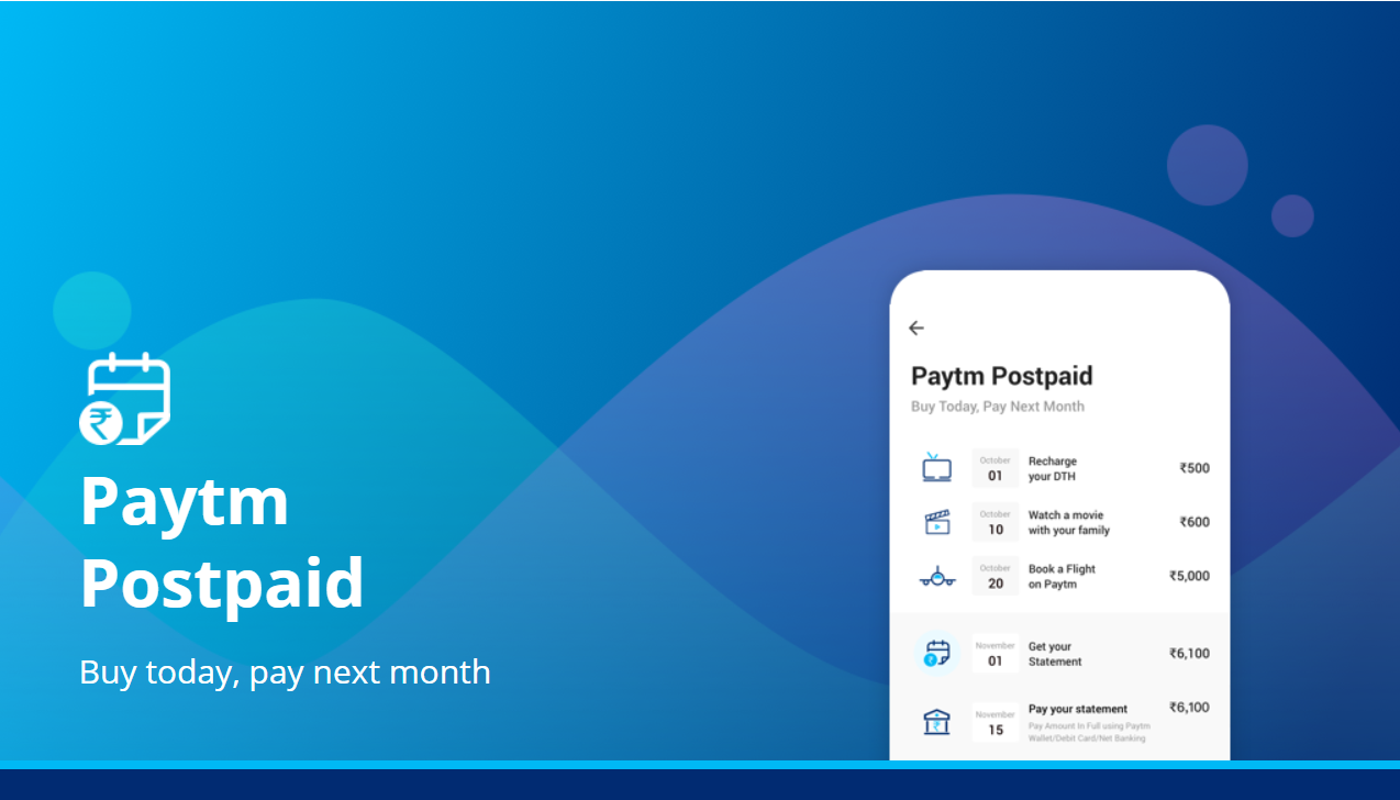 Paytm Provides customer Paytm Postpaid offer Short Term Instant Digital Credit